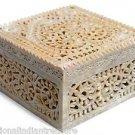 "6""x6""x3.5"" Marble Jewelry Box Handmade Filigree Trinket Box Home Beautiful Arts"