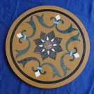 """18"""" Marble Coffee Table Top Handmade Mosaic Inlaid Centre Table Top Patio Decor"""