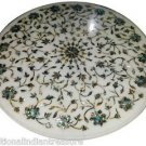 Size 2'X2' Marble Side Coffee Table Top Rare Inlay Pauashell Gem Home Decor H917