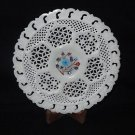 """8"""" Rare Marble Plate Turquoise Pietra Dura Inlay Handmade Very Fine Grill Gifts"""