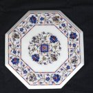 """12"""" Marble Dining Coffee Table Top Paua Shell Lapis Pietra Dura Home Decor Gifts"""