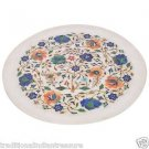 """11"""" White Decoration Marble Plate Marquerty Mosaic Beautiful Home Decor Gifts"""
