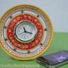 "6"" Marble Clock Handmade Hand painted Jaipur Art Home Decor Beautiful Gifts"