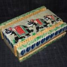 Marble Jewelry Box Trinket Gorara Elephant Design Hand Painted Home Decor Gifts