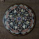 "34"" Mosaic Real Gems Black Marble Big Coffee Table top Inlaid Rare Home Decor"