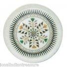 "10"" White Marble Plate New Pattern Beautiful Art Marquetry Mosaic Handmade Decor"