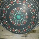 "30"" Black Marble Hakik Malachite Coffee Dining Table Top Floral Mosaic Decor Art"