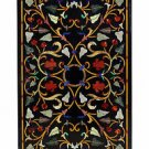 """Size 24""""x42"""" Marble Dining Table Top Mosaic Inlay Floral Marquetry Home Decor"""