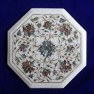 "12"" Marble Inlay Original Paua Shell coffee Side Table Pietra Dura Home Deco Art"