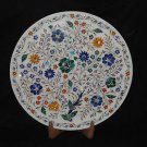 """16"""" Marble Rare Unique Plate Inlaid Mosaic Pietra Dura Marquetry Decor Art Gifts"""