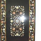 3'x2' Black Marble Dining Table Top Marquetry Handmade Home Decor Mosaic Arts