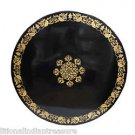 3' Marble Dining Table Top Hakik Inlay Gem Ancient Mosaic Leaf Art Handmade Gift