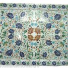 """15""""x12"""" Marble Tray Handmade Pietra Dura Marquetry Home Decor Gifts Arts New"""