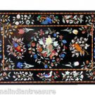 3'x6' Marble Dining Table Top Rare Stone Birds Flower Mosaic Art Handmade Gift