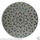 "24"" Marble Dining Table Top Paua Shell Mughal Art Gemstones Inlaid Handmade Arts"