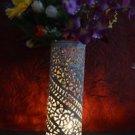 "10"" Marble Soapstone Flower Vase Home Decor Pot Cylindrical Shape Home Decor Art"
