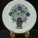 """8"""" Decorative Marble Plate Pietra Dura High Quality Inlay Work Decor Home Gifts"""