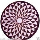 2' Black Marble Side Coffee Table Top Rare Inlaid Gem Stone Mosaic Handmade Gift