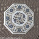 """13"""" Real Gems Coffee Table Top Dining Rare Fine Inlaid Handmade Mosaic Gifts Art"""