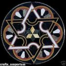 """24"""" Black Marble New Design Inlaid Coffee Dining Table Top Mosaic Home Decor Art"""