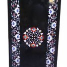 Size 2'x3' Black Marble Dining Center Side Table Top Inlay Marquetry Mosaic Art