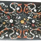 Size 2'x3' Black Marble Center Coffee Table Top Rare Inlay Mosaic Marquetry Deco