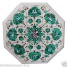 Size 1'x1' Marble Center Coffee Table Top Malachite Inlay Marqutery Decor