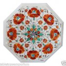 Size 1'x1' Marble End Coffee Table Top Rare Inlay Mosaic Floral  Art Decor