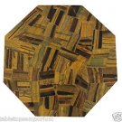 Size 1'x1' Marble End Coffee Table Top Rare Inlay Gemstone Mosaic Home Decor