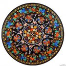 Size 5'x5' Marble Dining Center Table Top Inlay Mosaic Floral Art Home Decor