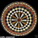 """24"""" Handmade New Black Marble Coffee Table Top Home Decor New Pattern Arts New"""