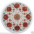 "Size 12""x12"" Marble Handmade Side Table Top Inlay Pietra Dura Italian Art Home"