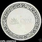 "24"" Marble Table Top Semi Precious Stone Inlaid Home Decor Art Handmade Gifts"