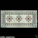 White Coffee Dining Table Top Inlaid Marquetry Mosaic Home Decor Art Gifts