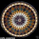"36"" Pietra Dura Inlaid Handmade Black Marble Table Top Opal Design Home Decor"