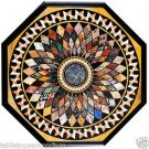 Size 4'x4' Marble Dining Coffee Table Top Semi Inlay Stone Mosaic Home Decor