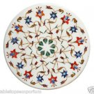 """Size 18""""x18"""" Marble Center Coffee Corner Table Top Inlay Marquetry Mosaic Decor"""