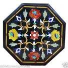 "12"" Black Marble Table Top Inlay Mosaic Inlaid Handmade Mosaic Decor Gifts Art"