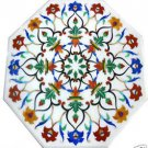 Size 2'x2' White Marble Center Side Coffee Table Top Inlay Marquetry Mosaic Deco