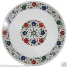 Size 2'x2' Marble Round Coffee Table Top Inlay Floral Home Decor Christmas Gifts