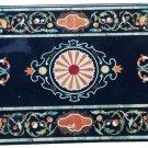 Size 4'x2' Marble Dining Corner Table Top Pietradure Mosaic Inlay Art Home Decor