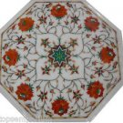 Size 1'x1' Marble End Coffee Table Top Inlay Gem Mosaic Floral Home Decor