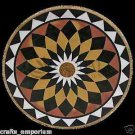 """24"""" Black Table Top Nicely Coffee Dining Table Handmade Inlaid Mosaic Work Decor"""