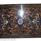 """Size 30""""x60"""" Marble Dining Table Top Rare Stone Inlay Marquetry Home Decorative"""