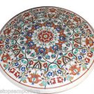 Size 3.5'x3.5' Marble Dining Table Top Handmade Marquetry Mosaic Art Home Decor