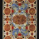 4'x2' Black Marble Dining Table Top Rare Inlay Mosaic Pietradure Art Patio Decor