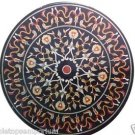 "Size 30""x30"" Marble Coffee Table Top Inlaid Grand Pietradure Mosaic Garden Decor"