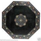 Size 4'x4' Marble Center Coffee Table Top Rare Inlay Pietradure Floral Decor