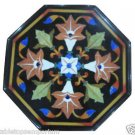 """12"""" Black Marble Table Top Furniture Inlay Handmade Mosaic Home Decor Gifts"""
