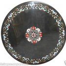 """Size 24""""x24"""" Marble Center Coffee Table Top Rare Gem Marquetry Mosaic Inlay Deco"""